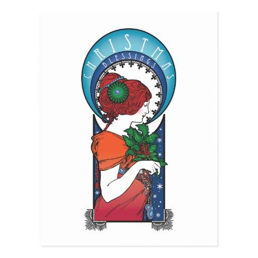 Bendiciones del navidad tarjeta postal