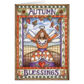 Bendiciones del otoño - tarjeta de felicitación