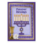 Bendiciones del Passover Tarjeta De Felicitación