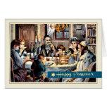 Bendiciones del Passover. Tarjetas de la escena de