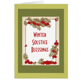 Bendiciones del solsticio de invierno con las tarjeta de felicitación