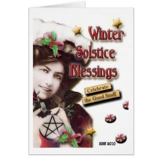 Bendiciones del solsticio de invierno del vintage felicitaciones