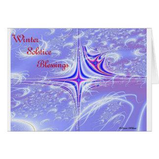 Bendiciones del solsticio de invierno tarjeta de felicitación