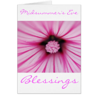 Bendiciones del solsticio del pleno verano con la tarjeta de felicitación