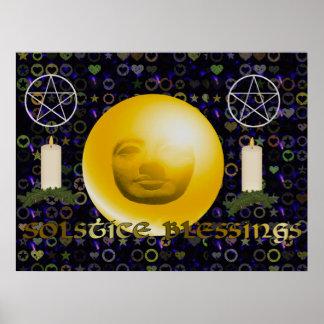 Bendiciones del solsticio poster