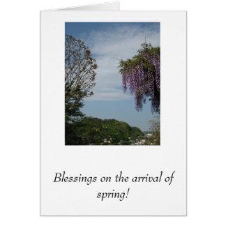 ¡Bendiciones en la llegada de la primavera! Tarjeta Pequeña