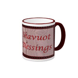 Bendiciones hebreas judías de Shavuot del día de f Tazas