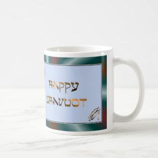 Bendiciones hebreas judías de Shavuot del día de f Taza De Café