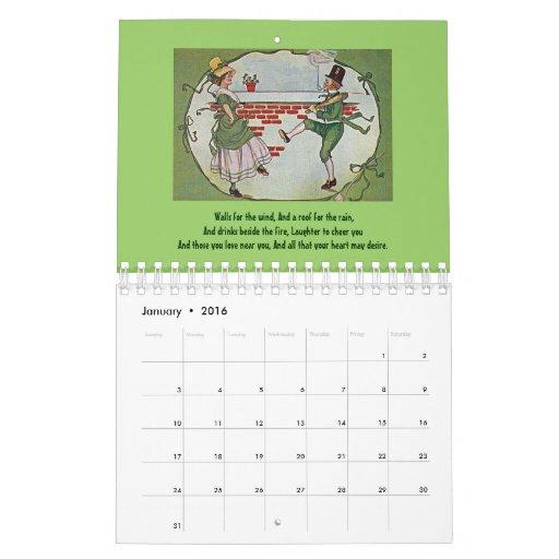 Bendiciones irlandesas 2014 calendarios de pared