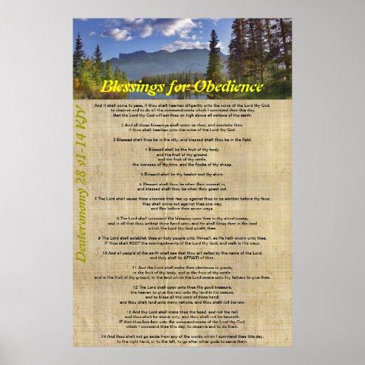 Bendiciones para la obediencia póster