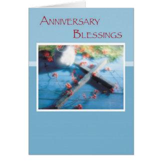 Bendiciones religiosas del aniversario tarjeta de felicitación