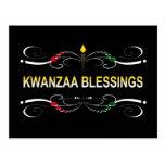 bendiciones sofisticadas de Kwanzaa Postales