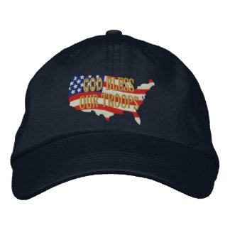Bendiga a nuestras tropas 2 gorra de béisbol bordada