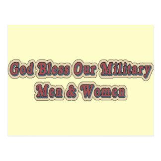 Bendiga a nuestros soldados militares postal