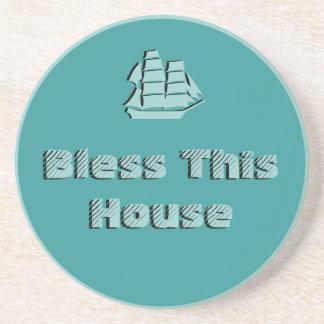 Bendiga esta casa - náutica posavasos para bebidas