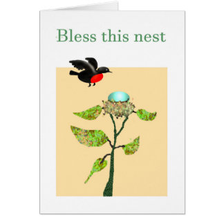 Bendiga esta jerarquía, pájaro, jerarquía, huevo, tarjeta de felicitación