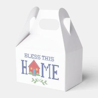 Bendiga este bordado cruzado casero de la puntada caja para regalos de fiestas