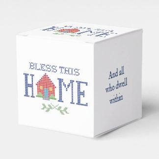Bendiga este bordado cruzado casero de la puntada cajas para detalles de boda