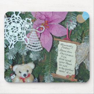 Bendiga este cojín de ratón del árbol de navidad mouse pad