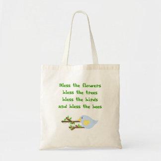Bendiga los pájaros…. bolsa tela barata