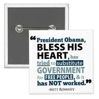 Bendiga su corazón Barack Obama no ha trabajado el Pins