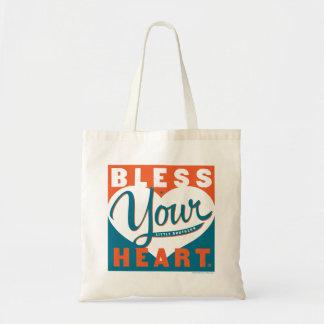 Bendiga su corazón bolsa tela barata