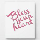 Bendiga su corazón placas con fotos
