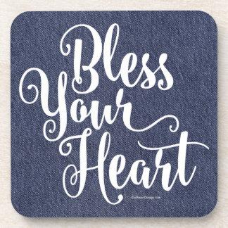 Bendiga su corazón posavaso