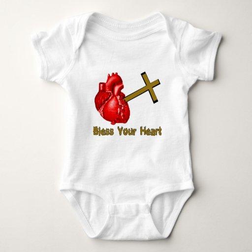Bendiga su corazón tee shirts