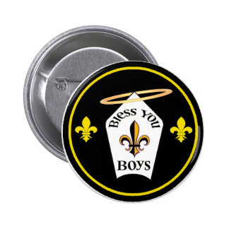 Bendígale emblema de los muchachos pin redondo 5 cm