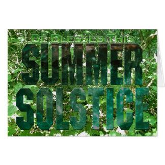 Bendígase este solsticio de verano tarjeta de felicitación