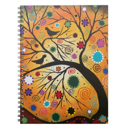 Bendind Branches By Lori Everett Day Of The Dead Notebook