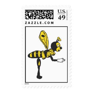 Bending bee postage stamp