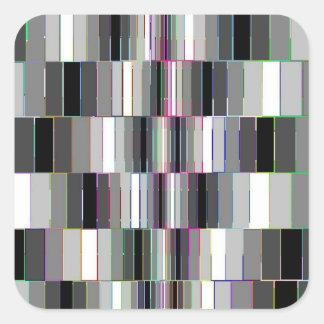 Bending Boxes Pattern Optical Illusion Square Sticker