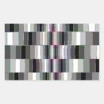 Bending Boxes Pattern Rectangular Sticker