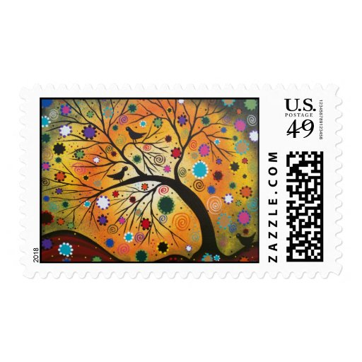 Bending Branches By Lori Everett Postage