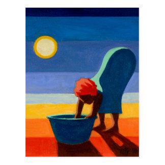 Bending Woman 2005 Postcard