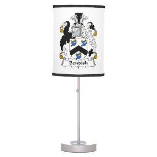 Bendish Family Crest Desk Lamp