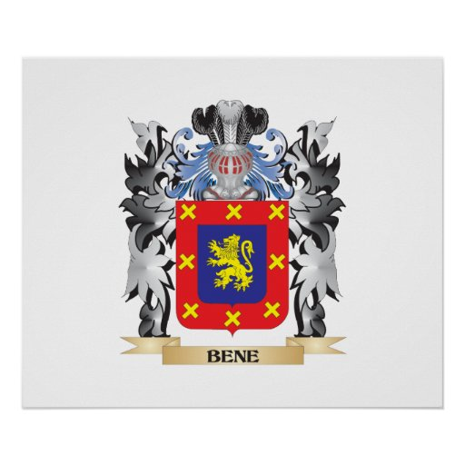 Bene Coat of Arms - Family Crest Poster