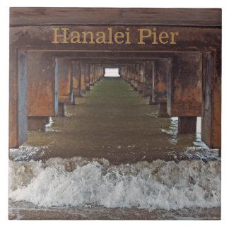 """""""BENEATH HANALEI PIER"""" (KAUAI) TILE"""
