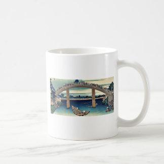 Beneath Mannen Bridge by Katsushika,Hokusai Coffee Mug