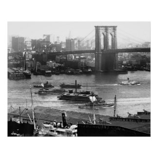 Beneath the Brooklyn Bridge Print