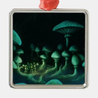 beneath the earth metal ornament