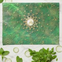 Beneath the Emerald Sea Kitchen Towel