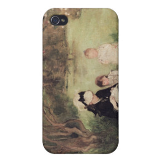 Beneath the Lilac at Maurecourt, 1874 iPhone 4/4S Cover
