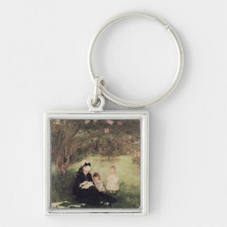 Beneath the Lilac at Maurecourt, 1874 Keychain