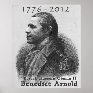Benedict Arnold-Barack Hussein Obama Print
