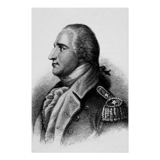Benedict Arnold Engraving by H.B. Hall Poster