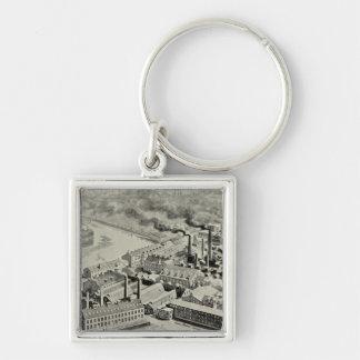 Benedict & Burnham Mfg Co Silver-Colored Square Keychain