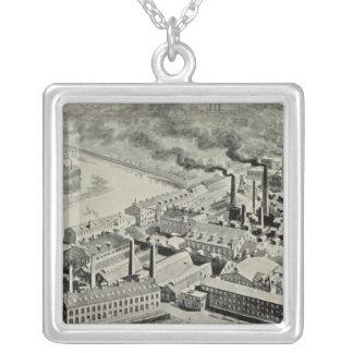 Benedict & Burnham Mfg Co Square Pendant Necklace